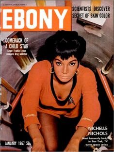 Nichelle Nichols sang with Duke Ellington and Lionel Hampton before turning to acting. As Star Trek's Lt. Uhura, she became one of the first images of black women on tv who weren't servants. She wanted to leave the show to pursue a Broadway career but Martin Luther King Jr. persauded her to stay on as a role model and door opener for other African American roles. The role served as an inspiration to future astronaut Mae Jemison, who would become the first real astronaut to appear on Star Tre...