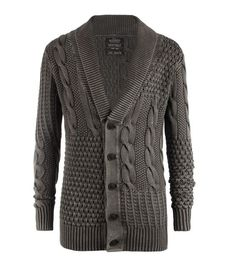All Saints' knitwear. I love this brand, it's both so elegant and so cool at the same time. I absolutely love it! Very nice dark grey knitwear. New Mens Fashion, Winter Fashion, Moda Emo, Versace Men, Minimal Fashion, Mens Clothing Styles, Pullover, Dress To Impress, Men Sweater