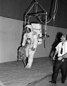 Apollo 13 astronaut Jim Lovell trains for a walk on the Moon he would never make (January 16
