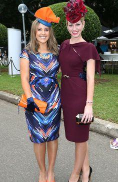 Julieanne Horsman and Georgina McKerrow at the 2014 Golden Slipper Day held at Rosehill Gardens Racecourse