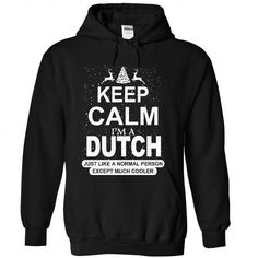 Keep calm Dutch much cooler - #gifts for girl friends #gift for mom. OBTAIN LOWEST PRICE => https://www.sunfrog.com/LifeStyle/Keep-calm-Dutch-much-cooler-3293-Black-Hoodie.html?68278