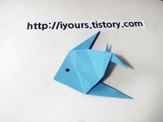 쉬운 고래 종이접기 How to Make a Paper Whale EZ Tutorial Origami - YouTube