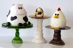 Barnyard Animal Cakes! :)