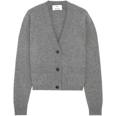 Allude Cropped cashmere cardigan (995 PEN) ❤ liked on Polyvore featuring tops, cardigans, dark gray, cardigan top, cropped tops, cropped cardigan, cut-out crop tops and cashmere top