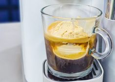 Nespresso 3 Ingredient No-Churn Ice-cream Affogato, No Churn Ice Cream, Espresso Shot, Creme Brulee, Condensed Milk, 3 Ingredients, Nespresso, Coffee Cups, Caramel