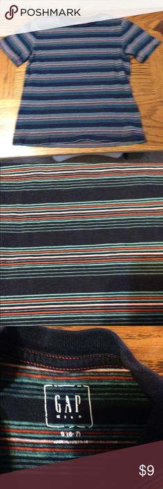 Striped top from Gap size 6/7 Fun stripes on this short sleeve shirt in excellent used condition GAP Shirts & Tops Tees - Short Sleeve