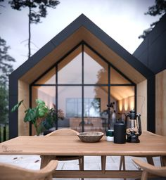 Home Design 32 The Best Eco Friendly House Architecture Design Ideas Make A Chart Article Body: All Modern Barn House, Modern House Design, Modern Cottage, Loft Design, Modern Houses, Style At Home, Gable House, Narrow House, A Frame House