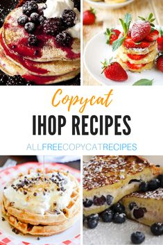 16 Copycat IHOP Recipes Whatever breakfast experience you're craving IHOP delivers, and these IHOP copycat recipes will let you enjoy the same delicious flavors at home. Ihop Pancake Recipe Copycat, I Hop Pancake Recipe, Pancake Recipes, Waffle Recipes, Ihop French Toast Recipe, Ihop Food, Ihop Pancakes, Fluffy Pancakes, Buttermilk Pancakes