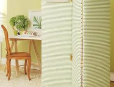 Love this!  DIY Privacy Screen.  I think I'll make mine tufted.  So adorable!!