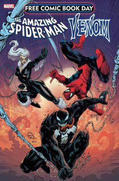 Ryan Stegman showed of the cover for this year's FCBD issue of Spiderman & Venom Ink by JP Mayer Color by Frank Martin Jr Free Comic Books, Comic Book Covers, Comic Books Art, Book Art, Venom Comics, Marvel Comics, Venom Comic Book, Miss Hulk, Diamond Comics