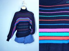 1970s Sweater / Vintage 70s Dolman Striped Sweater by SnapVintage, $24.00