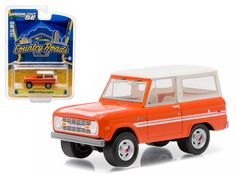 "1976 Ford Bronco Orange ""Explorer Package"" Country Roads Series 14 1/64 Diecast Model Car by Greenlight - Brand new 1:64 scale car model of 1976 Ford Bronco ""Explorer Package"" Country Roads Series 14 die cast model car by Greenlight. Limited Edition. Has Rubber Tires. Comes in a blister pack. Detailed Interior, Exterior. Metal Body and Chassis. Officially Licensed Product. Dimensions Approximately L-2 Inches Long.-Weight: 1. Height: 5. Width: 9. Box Weight: 1. Box Width: 9. Box Height: 5…"