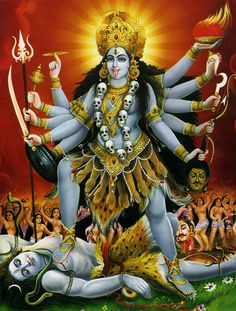 Goddess Kali Mantra And Rituals For Awakening Your Inner Power Kali Mantra, Indian Goddess Kali, Indian Gods, Indian Art, Kali Hindu, Hindu Art, Kali Shiva, Kali Dance, Kali Picture