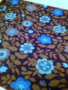 60s swedish vintage mod floral vintage fabric. Scandinavian design, made in Sweden.