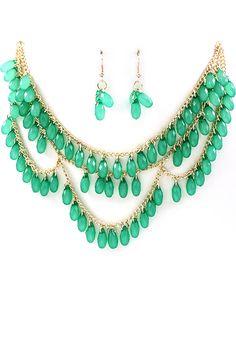Paris Green Kathi Necklace.