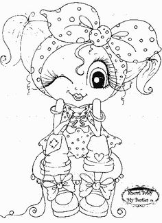 Wink a Tink My Besties digi stamp by Sherri Baldy Besties, Big Eyes Artist, Line Art Images, Gothic Culture, Creation Art, Black And White Lines, Eye Art, Digi Stamps, Coloring Book Pages