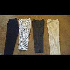Pants Women's pants, all like new. One new with tag jeans pant  Two polka-dot pants One cream color stripes pant. All size 6 and in very good condition. Pants
