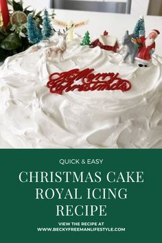 Easy Christmas Cake Royal Icing recipe - Becky Freeman Lifestyle