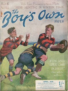 I really enjoy these old English books for boys from the and Great artwork, vivid colours and energetic rugby action. introducing glorious rugby stories where young boys could be the star of a day. Rugby Images, Rugby Pictures, Sports Art, Sports Posters, Art Posters, Rugby Rules, Rugby School, Rugby Poster, Rugby Sport