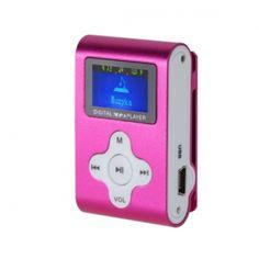 Lekki i przenośny odtwarzacz z wyraźnym wyświetlaczem LCD. Urządzenie nie posiada pamięci wbudowanej, za przechowywanie utworów odpowiada czytnik kart microSD do 32 GB. Urządzenie zostało wyposażone w praktyczny klips umozliwiający zamocowanie odtwarzacza, np. do paska. Urządzenie obsługuje odtwarzanie plików MP3, jest wyposażone w radio FM i dyktafon.  Produkt w kolorze różowym.