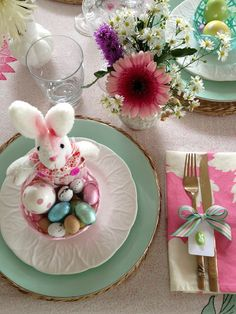 : : : clo estilo : : :: Mesas decoradas: Happy Easter!!!