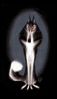 Husky by Meg Park #Animals #Illustration