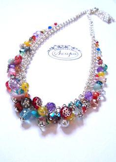 SZUP-colliers avec des perles