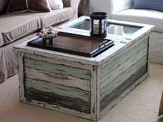 Trunk coffee table made from reclaimed wood #LiquidGoldSalvagedWood