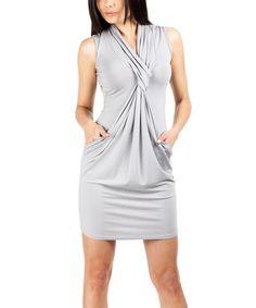 Look at this #zulilyfind! Gray Pocket Bubble Dress by MOE #zulilyfinds