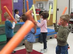 """Franklin Music: Kindergarten:  keeping the beat with """"light sabers"""" to Star Wars"""