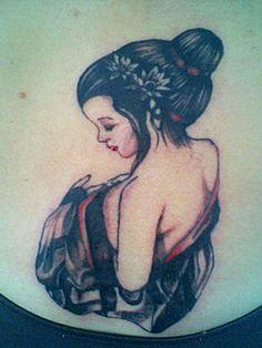 fine artistic geisha art | Geisha Tattoos on Tattoo Geisha Tattoo Geisha Id 1214