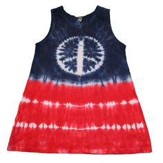 4th of July Shirt in Red, White and Blue with a Tie Dye Peace Sign by SparklePigDesigns on Etsy https://www.etsy.com/listing/49896050/4th-of-july-shirt-in-red-white-and-blue