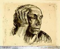 Kathe Kollwitz: Self portrait (1921)