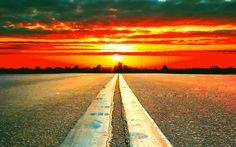 Esta es mi vision de vida. puse un horizonte porque no tiene limites como mis metas.