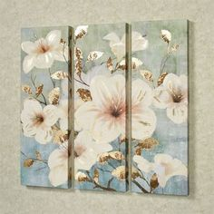 These Bursting Beauties open for the delightful first rays of spring sun. This giclee on canvas wall art set contains a multitude of light cream floral. Tuscan Wall Decor, Candle Wall Decor, Brown Wall Decor, Name Wall Decor, Cheap Wall Decor, Country Wall Decor, Modern Wall Decor, Staircase Wall Decor, Tuscan Decorating
