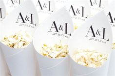 Vogue cones are elegant and stylish which any New Years Eve wedding will be. Fill these cones with any of our biodegradable petals for the ultimate confetti moment.