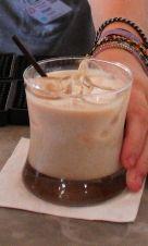 Orgasm cocktail Recipe: - 1/2 oz Kahlua - 1/2 oz De Kuyper Amaretto - 1/2 oz Bailey's - 1 1/2 oz Milk Glass: Rocks Ice: Cubed Method: Shake and strain