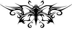 Nice Large Winged Tribal Butterfly Tattoo Design