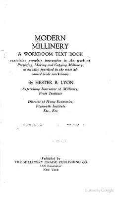Modern Millinery     a free ebook.