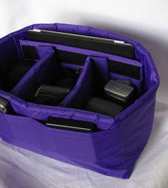 PreOrder Large DSLR Camera Bag Insert - Adjustable Dividers - Custom Sizes & Colors