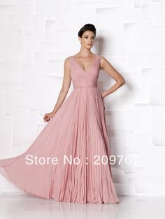 Light Pink V-neck A-line Chiffon Sweep-length All Drapped Simple Excellent Mother Of the Bride Dress on AliExpress.com. 10% off $103.50