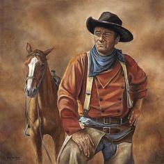 Full Square DIY Diamond Painting Cowboy John Wayne portrait Home Decorative Diamond Embroidery diamond mosaic Cross Stitch. Cowboy Horse, Cowboy Art, Westerns, Western Art, Western Cowboy, He Man Tattoo, John Wayne Movies, The Lone Ranger, Western Movies