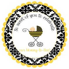 Bumble bee   Labels Stickers for party favors gift by noteablechic