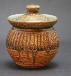 Lidded jar #pottery