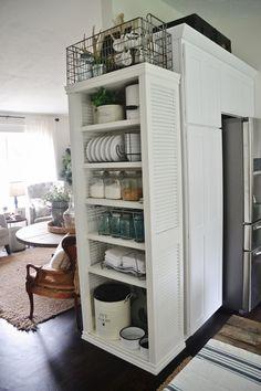 DIY Kitchen Shelves -