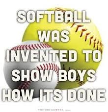 "I hate it when boys say, ""Softball is a simplified version of baseball so that girls can play it."", Please, Softball was invented to show you how it's done. Softball Chants, Softball Workouts, Softball Players, Fastpitch Softball, Softball Tournaments, Softball Pitching, Softball Coach, Lacrosse, Funny Softball Quotes"