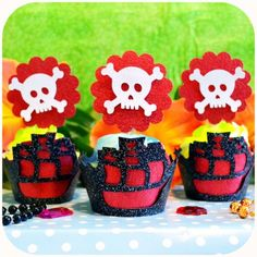 Pirate Fairy themed birthday party via Kara's Party Ideas KarasPartyIdeas.com Printables, cake, cupcakes, favors, games, and more! #fairyparty #tinkerbell #tinkerbellparty #pirateparty (10)