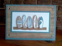 Masculine Surf Card by Sarah B - Cards and Paper Crafts at Splitcoaststampers