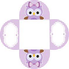 free-printable-purple-owls-kit-010.png (645×645)