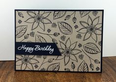 A great stampset from Mama Elephant - Freestyle Florals.